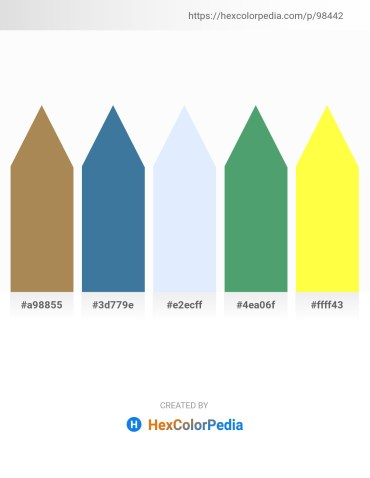 Palette image download - Dark Khaki – Steel Blue – Alice Blue – Medium Sea Green – Yellow