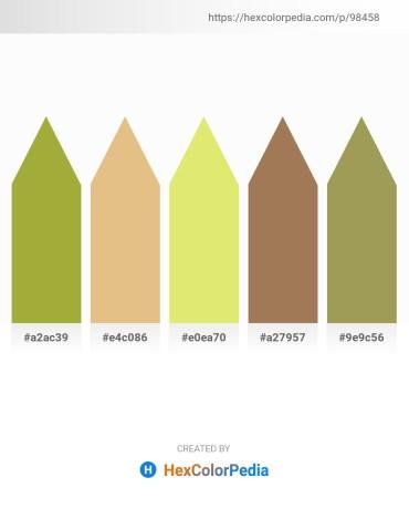 Palette image download - Yellow Green – Burlywood – Khaki – Olive Drab – Dark Khaki
