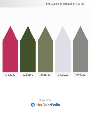 Palette image download - Brown – Dark Olive Green – Dim Gray – Light Steel Blue – Gray