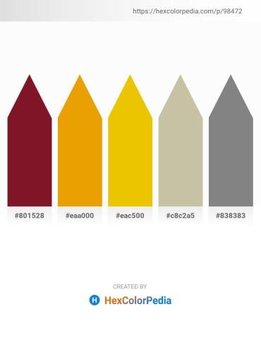 Palette image download - Light Sky Blue – Orange – Gold – Tan – Gray