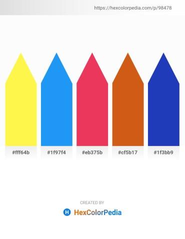 Palette image download - Yellow – Dodger Blue – Crimson – Chocolate – Royal Blue