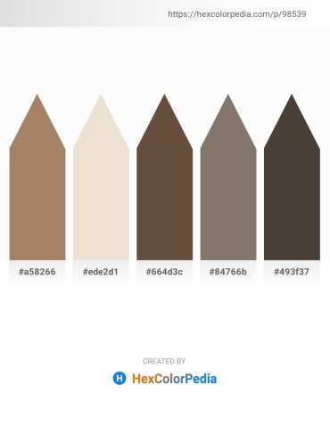 Palette image download - Rosy Brown – Beige – Khaki – Gray – Dim Gray