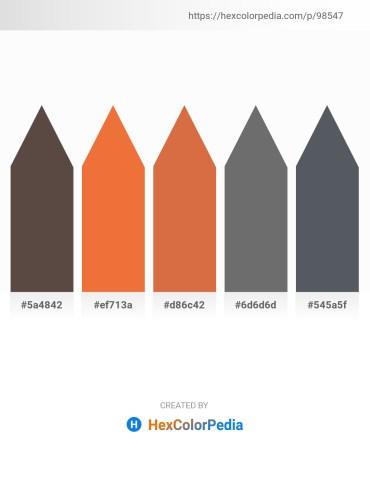 Palette image download - Dim Gray – Tomato – Peru – Dim Gray – Slate Gray