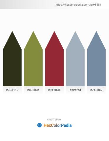 Palette image download - Dark Slate Gray – Dark Olive Green – Brown – Light Slate Gray – Light Slate Gray
