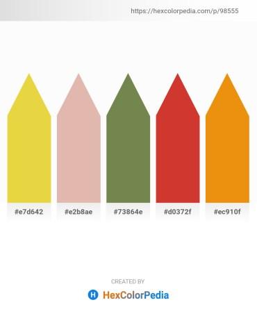 Palette image download - Goldenrod – Tan – Dark Olive Green – Firebrick – Dark Orange