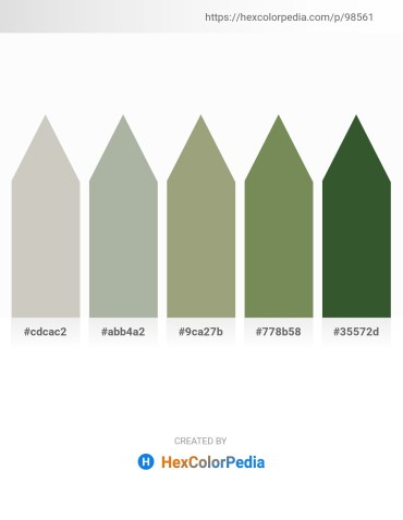 Palette image download - Silver – Dark Sea Green – Dark Sea Green – Dark Olive Green – Dark Olive Green