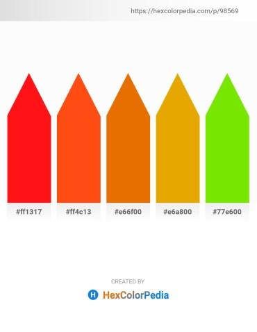 Palette image download - Red – Orange Red – Dark Orange – Orange – Lawn Green