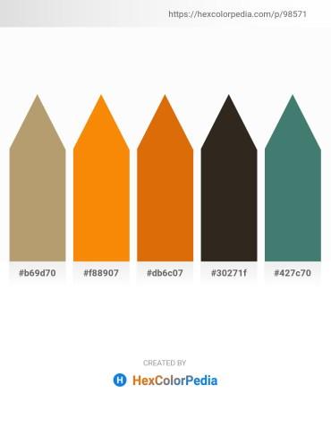 Palette image download - Dark Khaki – Dark Orange – Dark Goldenrod – Black – Dark Slate Gray