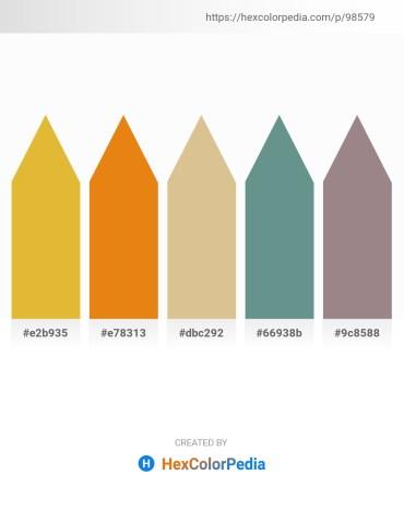 Palette image download - Goldenrod – Chocolate – Burlywood – Cadet Blue – Gray