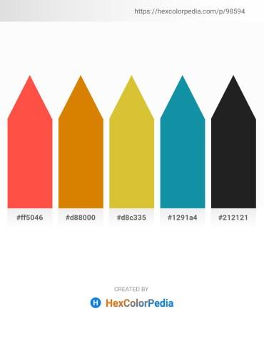 Palette image download - Tomato – Dark Orange – Goldenrod – Light Sea Green – Black