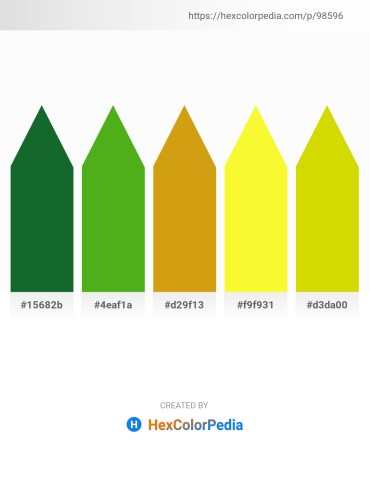 Palette image download - Forest Green – Olive Drab – Goldenrod – Yellow – Gold