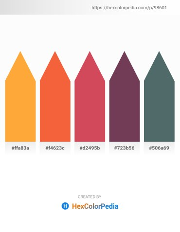 Palette image download - Coral – Tomato – Indian Red – Slate Gray – Dark Slate Gray