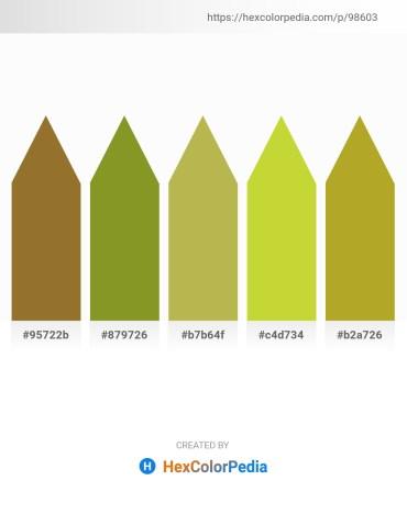 Palette image download - Sienna – Olive Drab – Dark Khaki – Yellow Green – Goldenrod