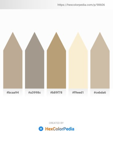 Palette image download - Rosy Brown – Dark Gray – Dark Khaki – Antique White – Tan