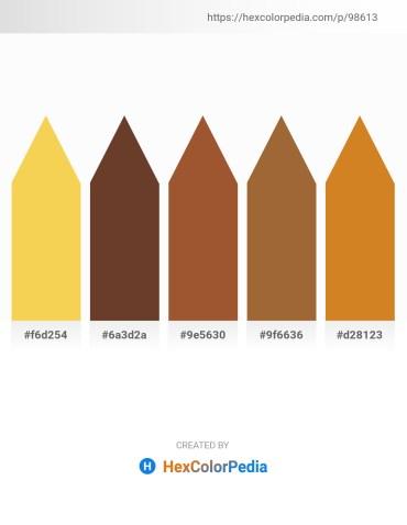 Palette image download - Gold – Cadet Blue – Sienna – Sienna – Chocolate