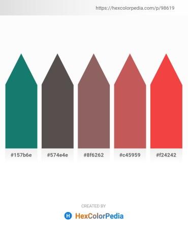Palette image download - Sea Green – Dim Gray – Dim Gray – Indian Red – Tomato