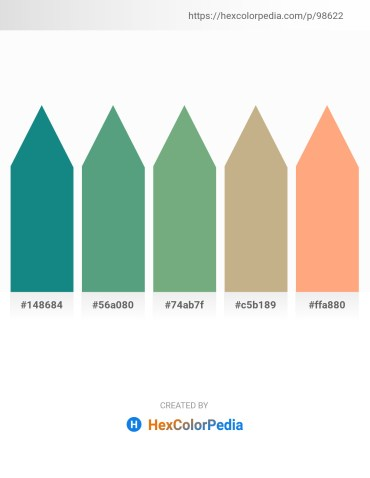 Palette image download - Light Sea Green – Cadet Blue – Dark Sea Green – Tan – Light Salmon