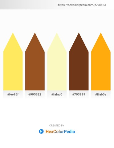 Palette image download - Peach Puff – Sienna – Light Goldenrod Yellow – Saddle Brown – Orange