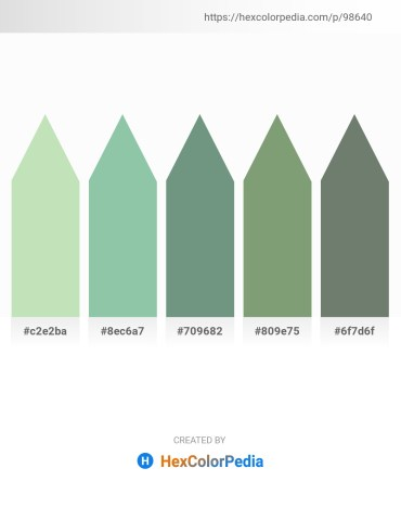 Palette image download - Powder Blue – Dark Sea Green – Cadet Blue – Dark Sea Green – Slate Gray