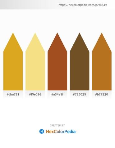Palette image download - Goldenrod – Khaki – Sienna – Sienna – Chocolate