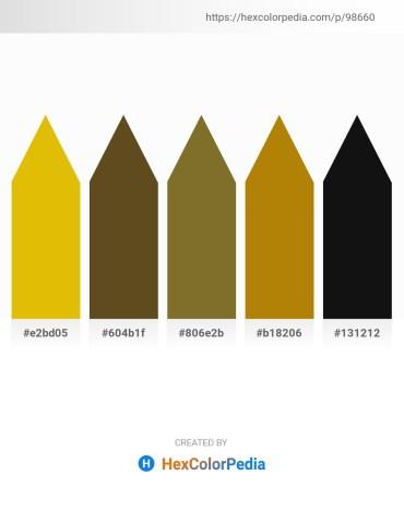 Palette image download - Gold – Dark Olive Green – Thistle – Dark Goldenrod – Black