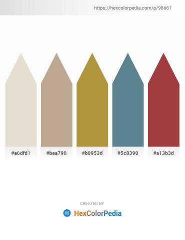 Palette image download - Beige – Rosy Brown – Peru – Cadet Blue – Sienna