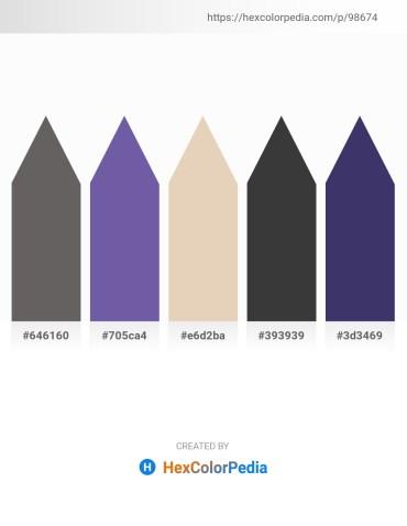 Palette image download - Dim Gray – Dark Slate Blue – Beige – Dim Gray – Dark Slate Blue