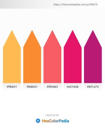 Palette image download - Sandy Brown – Coral – Salmon – Crimson – Medium Violet Red