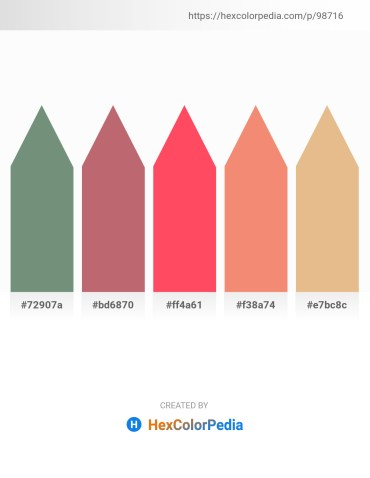 Palette image download - Dark Sea Green – Indian Red – Tomato – Light Coral – Burlywood