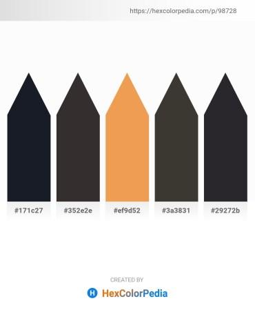 Palette image download - Dark Slate Gray – Black – Sandy Brown – Dim Gray – Dark Slate Gray
