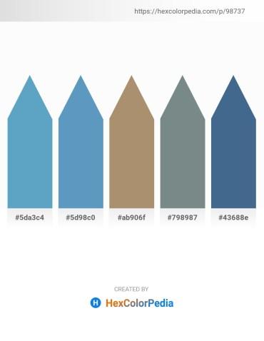 Palette image download - Steel Blue – Steel Blue – Rosy Brown – Slate Gray – Dark Slate Blue