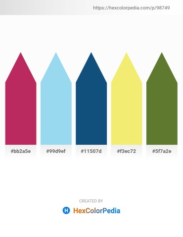 Palette image download - Brown – Sky Blue – Midnight Blue – Khaki – Dark Olive Green