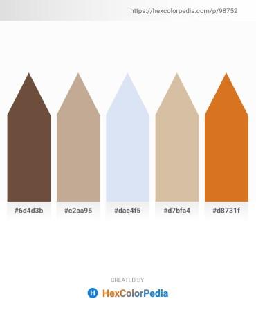 Palette image download - Dim Gray – Rosy Brown – Lavender – Tan – Chocolate