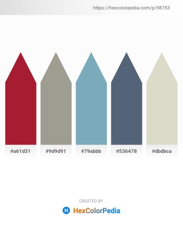 Palette image download - Firebrick – Dark Gray – Cadet Blue – Slate Gray – Light Gray