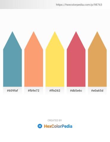 Palette image download - Cadet Blue – Light Salmon – Saddle Brown – Indian Red – Dark Salmon