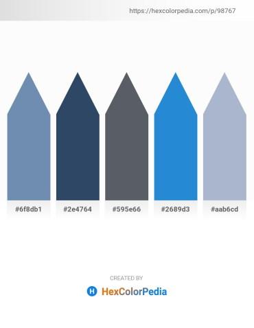 Palette image download - Cadet Blue – Dark Slate Gray – Slate Gray – Royal Blue – Light Steel Blue