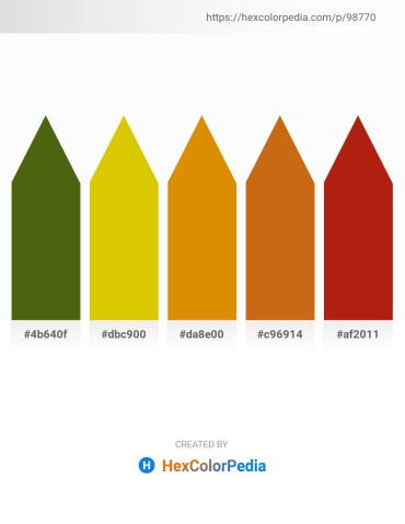 Palette image download - Olive Drab – Gold – Dark Orange – Chocolate – Firebrick