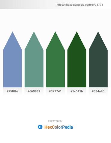 Palette image download - Steel Blue – Cadet Blue – Sea Green – Forest Green – Dark Slate Gray