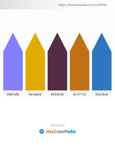 Palette image download - Medium Slate Blue – Orange – Chocolate – Chocolate – Steel Blue