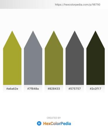 Palette image download - Yellow Green – Slate Gray – Dark Olive Green – Dim Gray – Dark Slate Blue