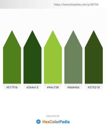 Palette image download - Olive Drab – Pale Violet Red – Yellow Green – Dark Olive Green – Dark Olive Green