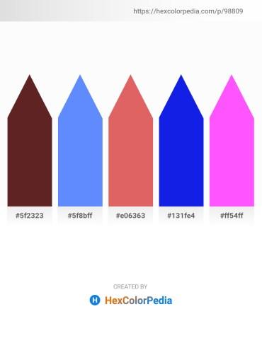 Palette image download - Brown – Cornflower Blue – Indian Red – Blue – Hot Pink