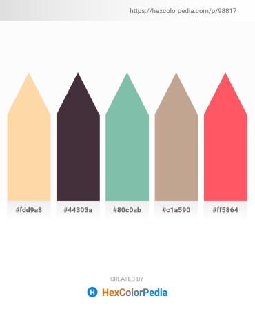 Palette image download - Navajo White – Dark Salmon – Dark Sea Green – Rosy Brown – Tomato