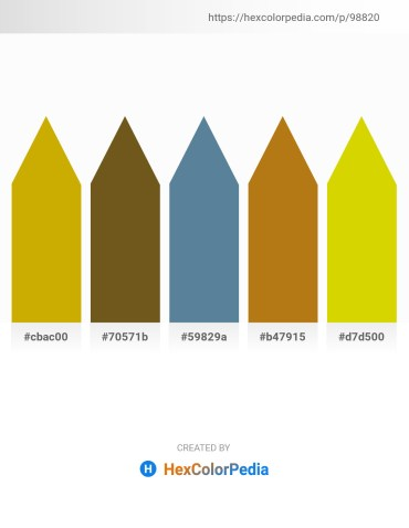 Palette image download - Dark Goldenrod – Saddle Brown – Cadet Blue – Dark Goldenrod – Gold