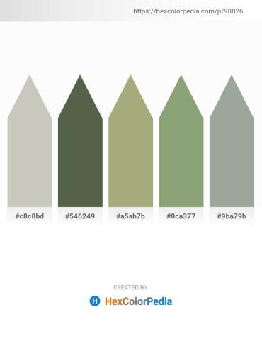 Palette image download - Silver – Dark Olive Green – Dark Khaki – Dark Sea Green – Dark Sea Green