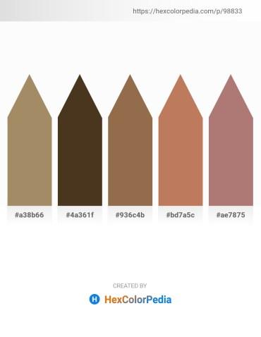 Palette image download - Dark Khaki – Tan – Sienna – Indian Red – Rosy Brown