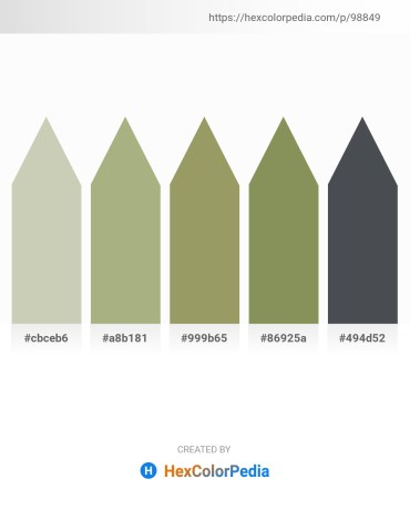 Palette image download - Silver – Dark Sea Green – Dark Khaki – Dark Khaki – Dark Slate Gray