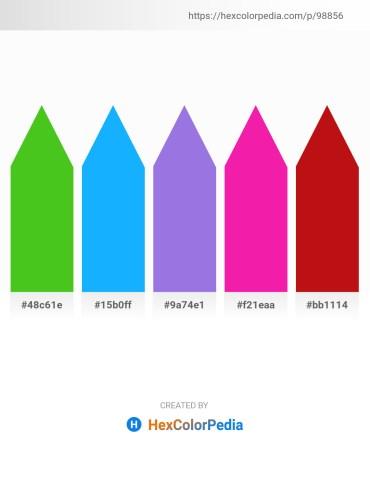 Palette image download - Lime Green – Deep Sky Blue – Medium Purple – Deep Pink – Crimson