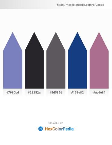 Palette image download - Steel Blue – Dark Slate Gray – Dim Gray – Midnight Blue – Rosy Brown