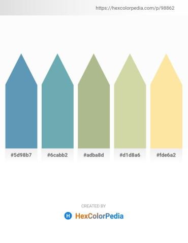 Palette image download - Steel Blue – Cadet Blue – Dark Sea Green – Tan – Navajo White